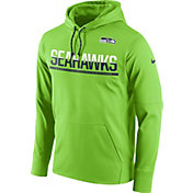 Nike Men's Seattle Seahawks Sideline 2016 Circuit Green Pullover Hoodie