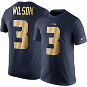 Nike Men's Seattle Seahawks Russell Wilson #3 Championship Gold T-Shirt