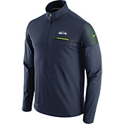 Nike Men's Seattle Seahawks Sideline 2016 Elite Coaches Quarter-Zip Black Pullover