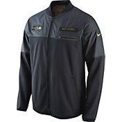 Nike Men's Seattle Seahawks Salute to Service 2016 Hybrid Black Jacket