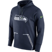 Nike Men's Seattle Seahawks Sideline 2016 Vapor Speed Fleece Navy Pullover Hoodie