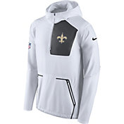 Nike Men's New Orleans Saints Sideline 2016 Alpha Fly Rush White Jacket