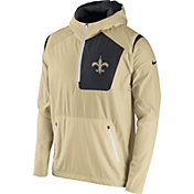 Nike Men's New Orleans Saints Sideline 2016 Vapor Speed Fly Rush Gold Jacket