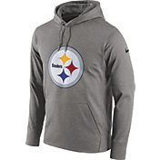 Nike Men's Pittsburgh Steelers Performance Circuit Logo Essential Grey Hoodie