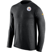 Nike Men's Pittsburgh Steelers Sideline 2016 Dri-FIT Touch Black Long Sleeve Shirt