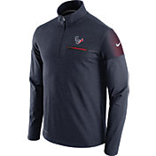Nike Men's Houston Texans Sideline 2016 Elite Coaches Quarter-Zip Navy Pullover