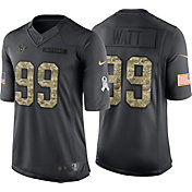 Nike Men's Home Limited Jersey Houston Texans J.J. Watt #99 Salute to Service 2016