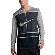 Nike Men's Court Practice Tennis Long Sleeve Shirt