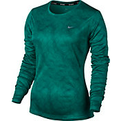 Nike Women's Dry Miler Long Sleeve Printed Running Shirt