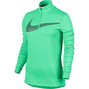 Nike Women's Dry Element Reflective Long Sleeve Half Zip Running Shirt