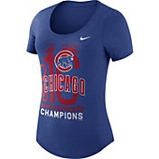 Nike Women's 2016 World Series Champions Chicago Cubs Royal Scoop Neck T-Shirt