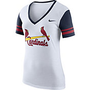 Nike Women's St. Louis Cardinals Fan White V-Neck Shirt