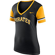 Nike Women's Pittsburgh Pirates Fan Black V-Neck Shirt