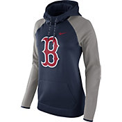 Nike Women's Boston Red Sox Grey Therma Pullover Hoodie