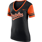 Nike Women's Baltimore Orioles Fan Black V-Neck Shirt
