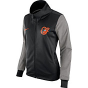 Nike Women's Baltimore Orioles Black/Grey Full-Zip Track Jacket