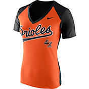 Nike Women's Baltimore Orioles Fan Cooperstown Orange/Black V-Neck Shirt