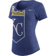 Nike Women's Kansas City Royals Marled Royal Scoop Neck T-Shirt