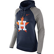 Nike Women's Houston Astros Grey Therma Pullover Hoodie
