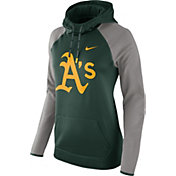 Nike Women's Oakland Athletics Grey Therma Pullover Hoodie