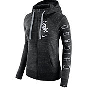 Nike Men's Chicago White Sox Vintage Black Full-Zip Hoodie