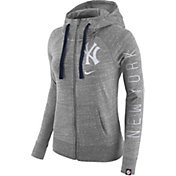 Nike Women's New York Yankees Vintage Grey Full-Zip Hoodie