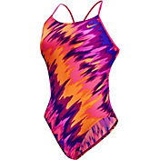 Nike Women's Immiscible Cut-Out Tank Swimsuit