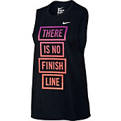 Nike Women's There Is No Finish Line Graphic Muscle Tank Top