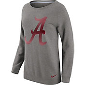 Nike Women's Alabama Crimson Tide Grey Champ Drive Boyfriend Crew Sweatshirt