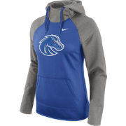 Nike Women's Boise State Broncos Grey/Blue Tailgate All Time Performance Hoodie