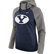 Nike Women's BYU Cougars Grey/Blue Tailgate All Time Performance Hoodie