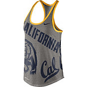 Nike Women's Cal Golden Bears Grey Dri-Blend Gear Up Racerback Tank