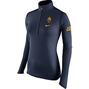 Nike Women's Cal Golden Bears Blue Tailgate Element Half-Zip Shirt