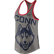 Nike Women's UConn Huskies Grey Dri-Blend Gear Up Racerback Tank
