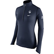 Nike Women's UConn Huskies Blue Tailgate Element Half-Zip Shirt