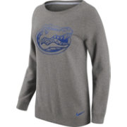 Nike Women's Florida Gators Grey Champ Drive Boyfriend Crew Sweatshirt