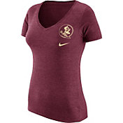 Nike Women's Florida State Seminoles Garnet Flash Bomb Hook V-Neck T-Shirt