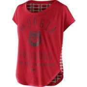 Nike Women's Georgia Bulldogs Red Gameday Signal Tri-Blend T-Shirt