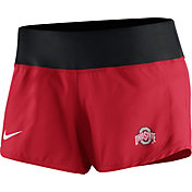 Nike Women's Ohio State Buckeyes Scarlet Gear Up Crew Performance Shorts