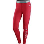Nike Women's Ohio State Buckeyes Scarlet Pro Hyperwarm Tights