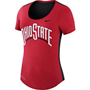 Nike Women's Ohio State Buckeyes Scarlet Dri-Blend Scoop Neck T-Shirt