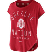 Nike Women's Ohio State Buckeyes Scarlet Gameday Signal Tri-Blend T-Shirt