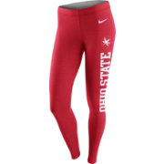 Nike Women's Ohio State Buckeyes Scarlet Tailgate Leg-A-See Tights