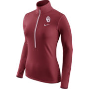 Nike Women's Oklahoma Sooners Crimson Pro Hyperwarm Half-Zip Shirt