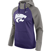 Nike Women's Kansas State Wildcats Grey/Purple Tailgate All Time Performance Hoodie
