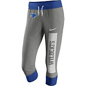 Nike Women's Kentucky Wildcats Grey/Blue Tailgate Gym Vintage Capris