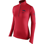 Nike Women's Ole Miss Rebels Red Tailgate Element Half-Zip Shirt