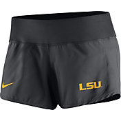 Nike Women's LSU Tigers Anthracite Gear Up Crew Performance Shorts