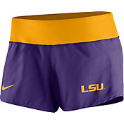 Nike Women's LSU Tigers Purple Gear Up Crew Performance Shorts