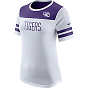 Nike Women's LSU Tigers White/Purple Modern Fan T-Shirt